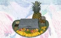 Ananas-Pfirsich-Flambee